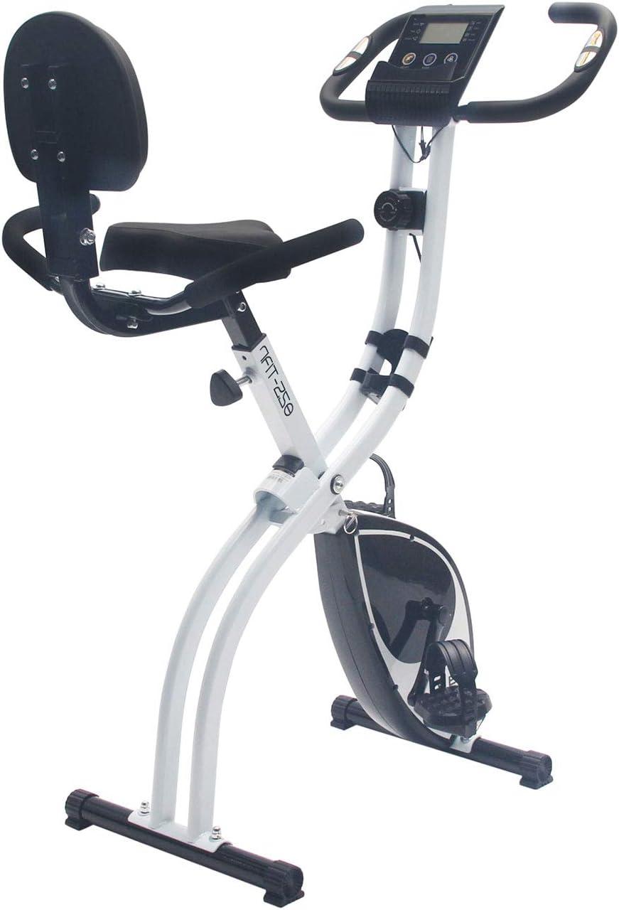 Nyana Fit | Bicicleta Estática Plegable Spinfold | Sillín Confort + Sujección | Resistencia Variable | Rodamientos Magnéticos | Nivel de Intensidad ...