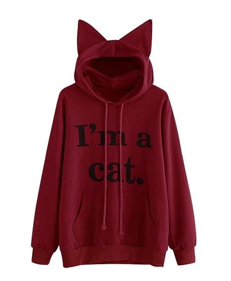 Rangeyes mujer blusa moda suéter jerséis pulóver gato sudaderas con jpg  466x568 Sueter accesorios tumblr ffeb083daaa8