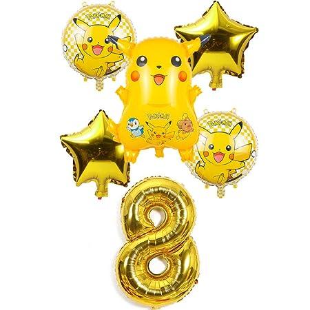 6 unids/set 32 pulgadas número dibujos animados Pikachu ...