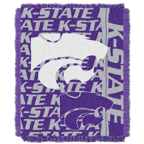 The Northwest Company NCAA Kansas State Wildcats 48 x 60-Inch Double Play Jacquard Triple Woven Throw