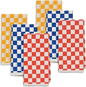 Checkered Print Disposable Tray Liners - Deli Paper Sheets for Food Plates Wrapping Papers and More - Assorted in 3 Colors - 24 Piece Set