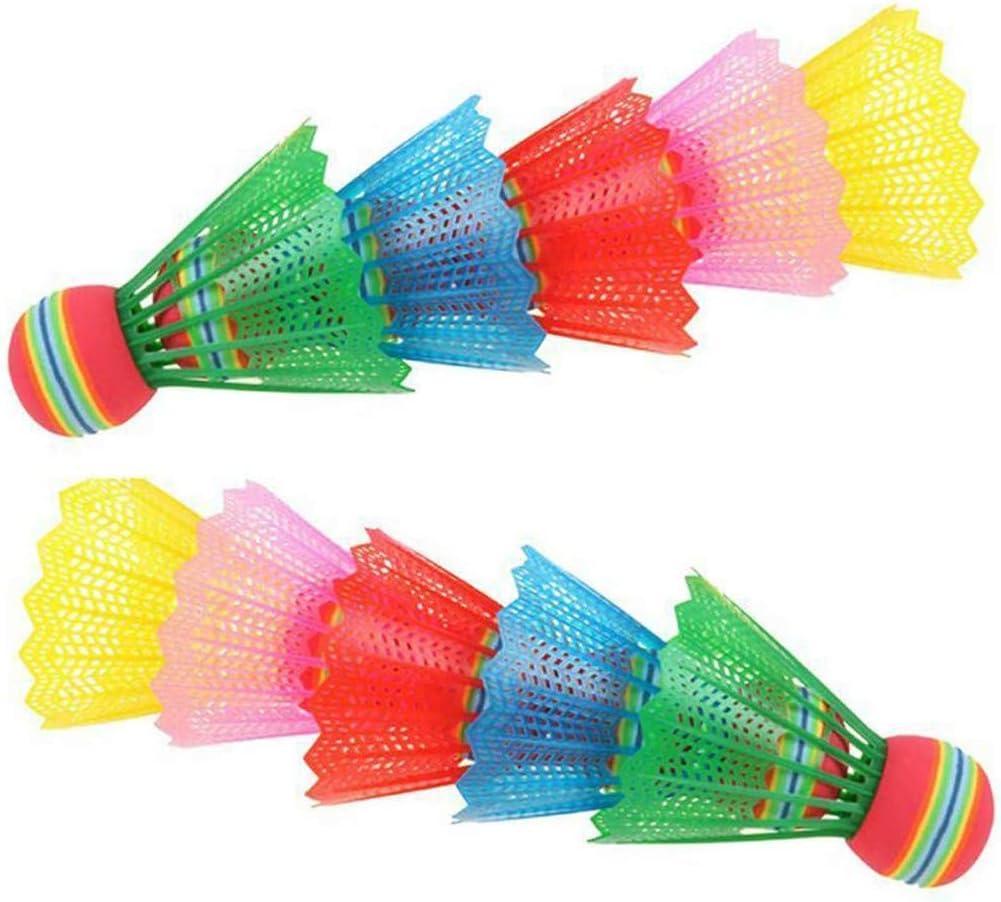 KimBird 10-Pack Badminton Shuttlecocks,High Speed Sport Plastic Shuttlecocks,Open Air Badminton Durable Badminton Accessories,Training Badminton Balls for Indoor Outdoor Game