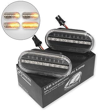 2x DYNAMISCHE LED SEITENBLINKER BLINKER WEISS CLEAR