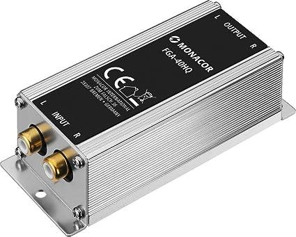 MONACOR FGA-40HQ High-End Masse-Trennfilter, Mantelstromfilter mit Stereo Line-Anschlüssen