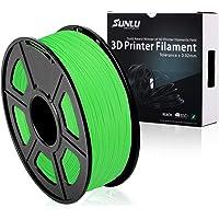 SUNLU 3D Printer Filament PLA Plus, 1.75mm PLA Filament, 3D Printing Filament Low Odor, Dimensional Accuracy +/- 0.02 mm, 2.2 LBS (1KG) Spool 3D Filament, Green PLA+