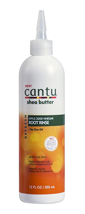 Cantu Refresh Root Rinse with Apple Cider Vinegar and Tea Tree Oil, 12 Fluid Ounce