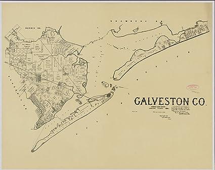 Amazon.com: Vintage 1892 Map of Galveston Co. - Shows ... on lajitas map, ville platte map, corpus christi map, kiva map, abilene map, ga ga map, balmorhea map, almeda mall map, laredo map, austin map, gautier map, gary city map, baltimore map, texas map, san jose island map, houston map, southside place map, san antonio map, elsa map, san francisco map,