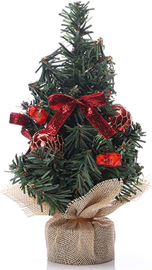 Newin Star Navidad Artificiales Mini árboles de Navidad de Mesa árboles de Navidad Adornos para el Partido de la decoración del hogar Tela marrón de árbol roja: Amazon.es: Hogar