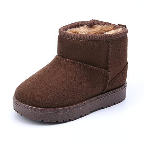 08e464f3d11f3 MK MATT KEELY Winter Boots for Boy Girl Soft Warm Shoes Toddler Brown Snow  Boots (