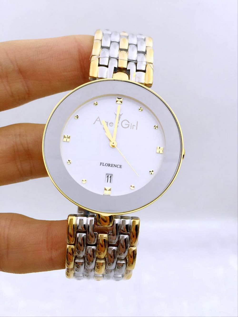 PLKNVT Top Luxury Rhinestone Pulsera De Acero Inoxidable Completa Relojes De Las Mujeres De Los Hombres De Las Mujeres Oro Cuarzo Plata Blanco Negro Hora MontreMens 36Mm