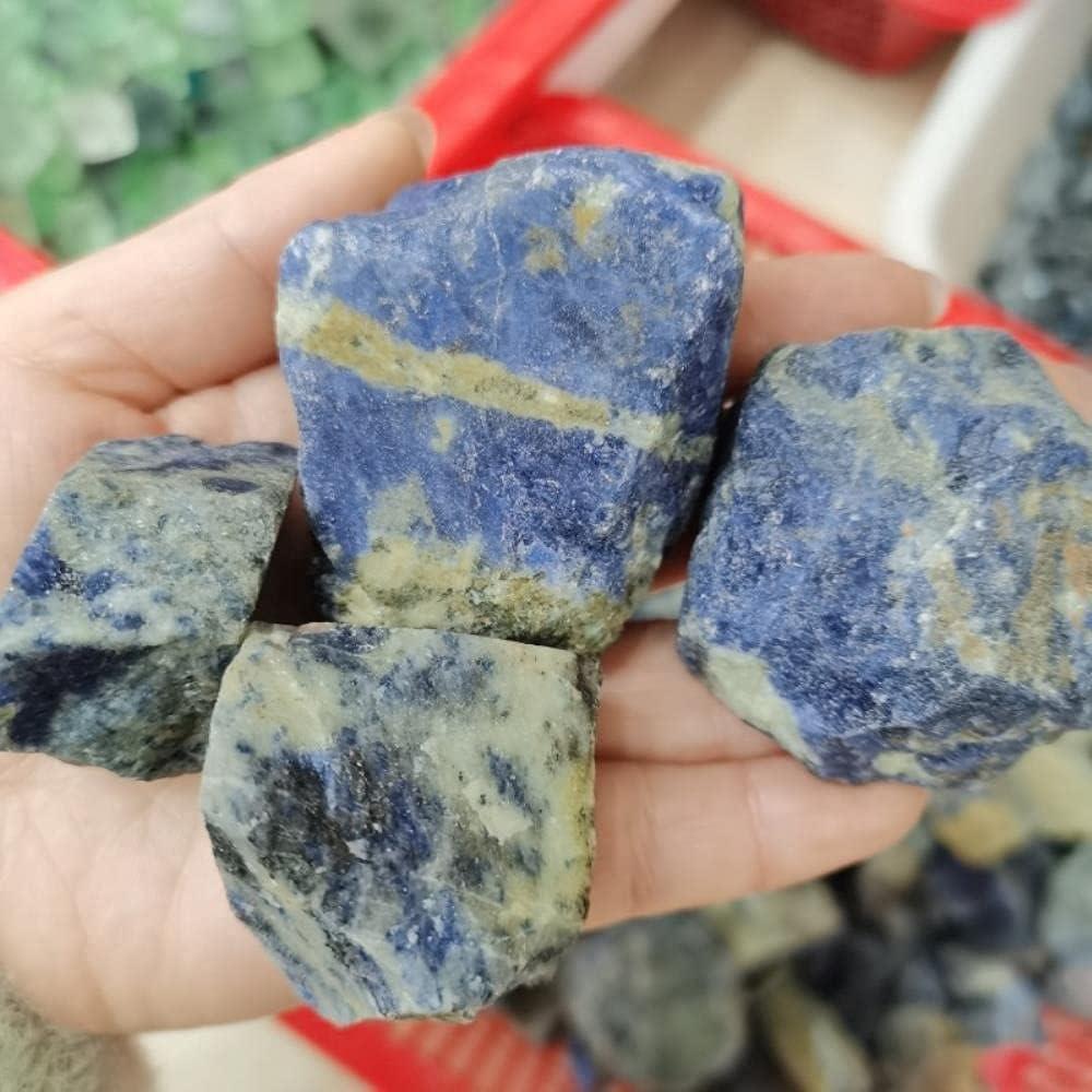 YELVQI Beautiful 100-500g Natural Lapis Lazuli Crystal Minerals Specimen Rough Raw Stone Irregular Shape Reiki Healing Home Decor DIY Gift (Size : 400g)