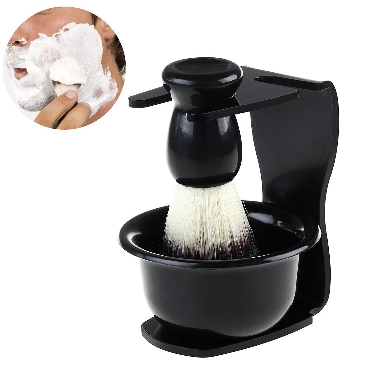 Rosenice Kit de afeitar para hombres, afeitado, cepillo, soporte, afeitado, taza, Conjunto, padre, día, regalo