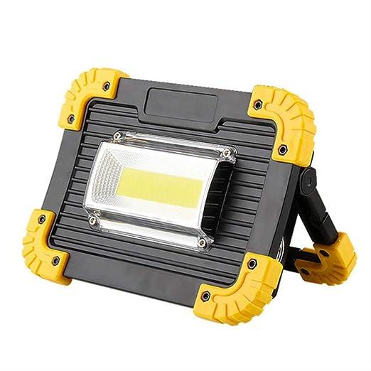 Foco LED Recargable 20w Led Proyector Portátil Luz De Trabajo Usb ...