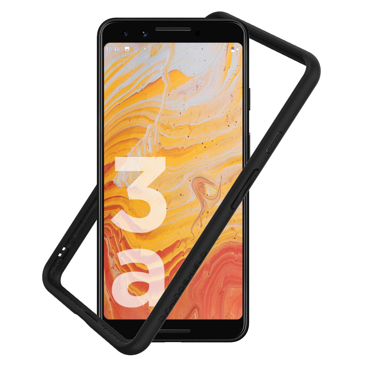 RhinoShield Ultra Protective Bumper Case for Google Pixel 3a CrashGuard, Military Grade Drop Protection for Full Impact, Slim, Scratch Resistant, Black by RhinoShield