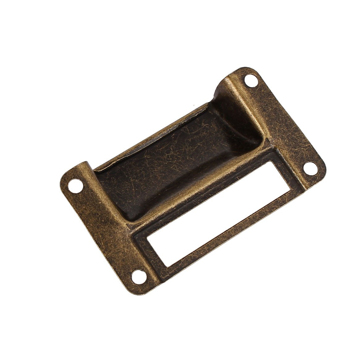 uxcell a16062000ux0466/Label Halterung Pull Bibliothek Post Office Datei Schublade zieht Label Halter Bronze Tone 100 de