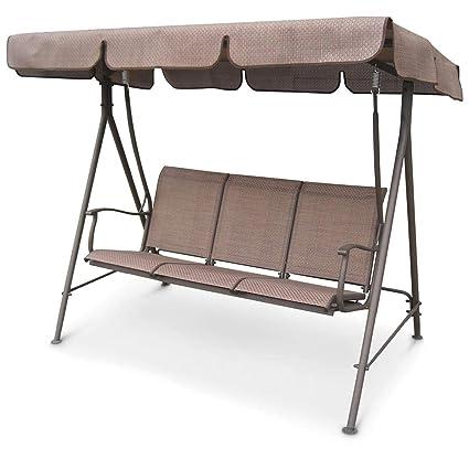 Amazon Com Castlecreek Canopied 3 Person Porch Swing Garden