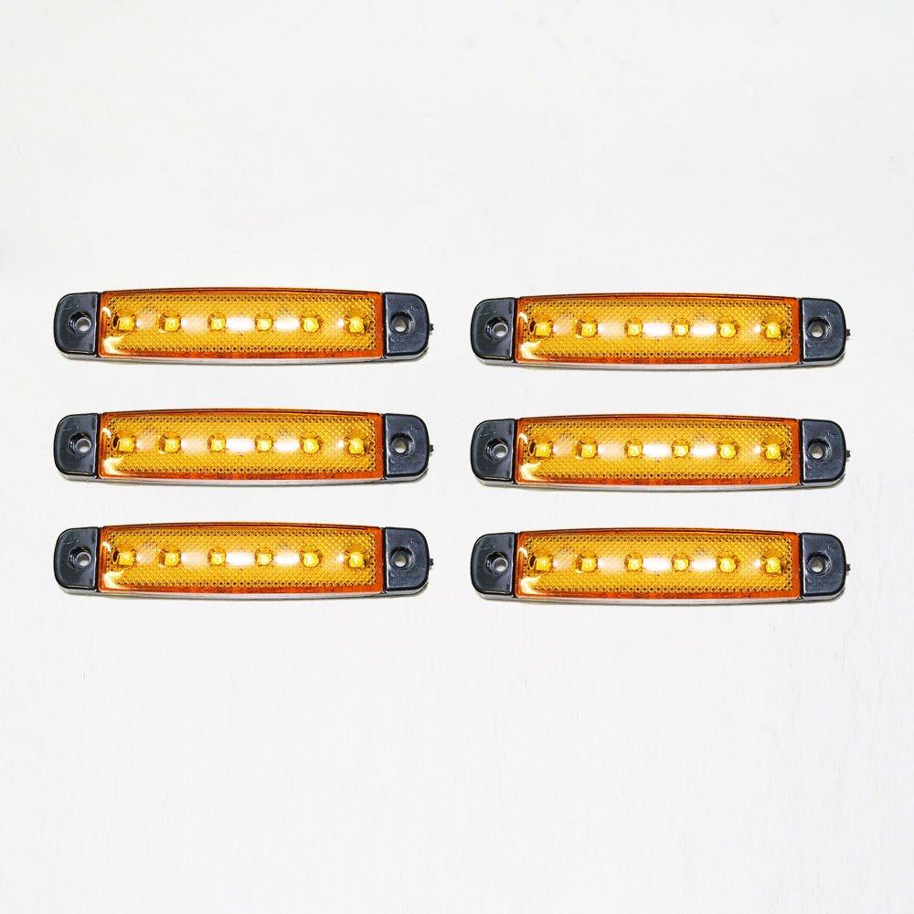 Universale 6 x 24 V LED SMD arancione giallo chiaro indicatore laterale luce CarJoy