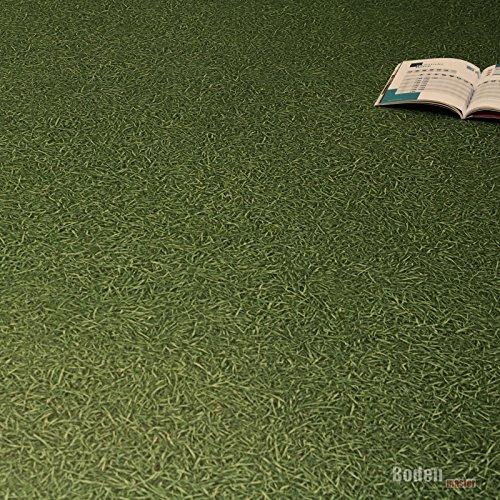 PVC Bodenbelag Rasen Gras Grün Breite 2 m (9,95 € p. m²)