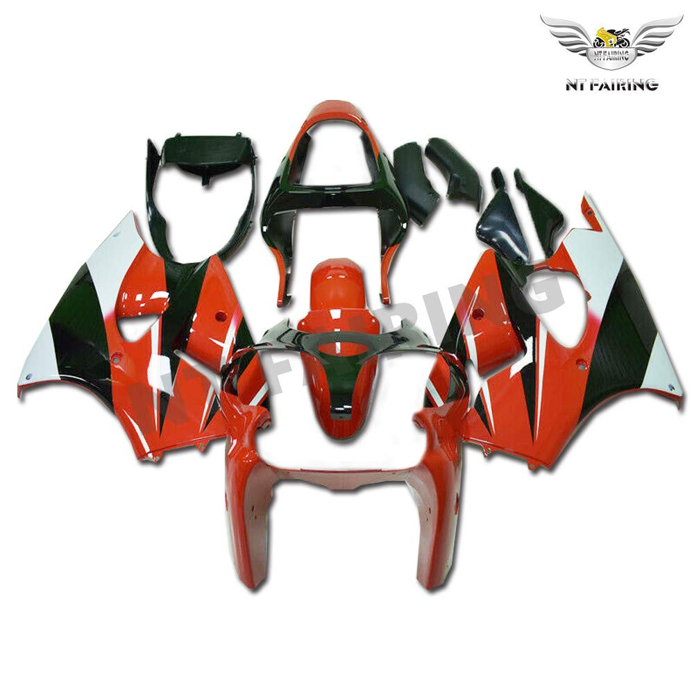 NT FAIRING Red Black Fairing Fit for KAWASAKI NINJA 2000 2001 2002 ZX6R 636 New Injection Mold ABS Plastics Bodywork Body Kit Bodyframe Body Work 00 01 02 ZX-6R