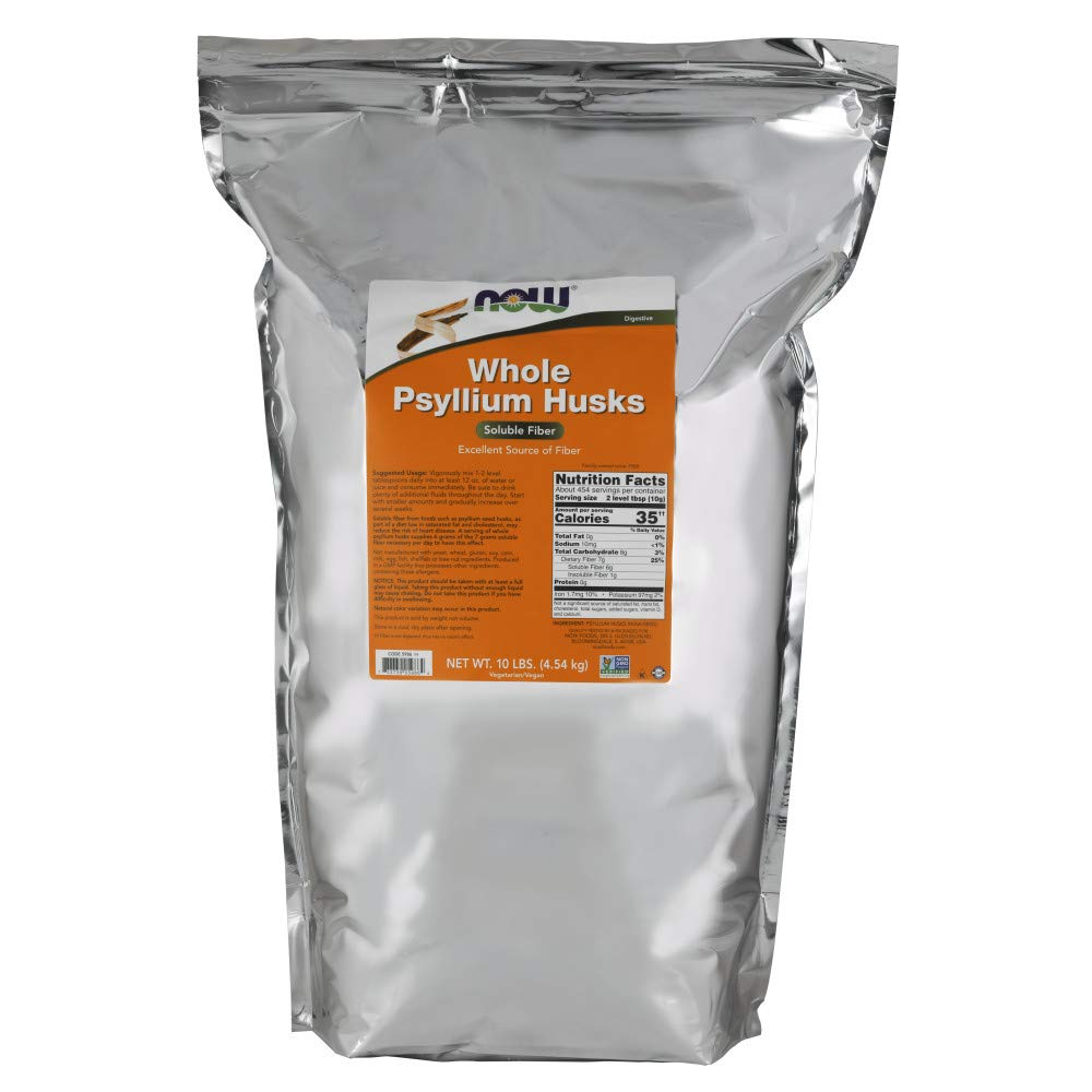 NOW Supplements, Whole Psyllium Husks, 10-Pound by NOW Foods (Image #1)