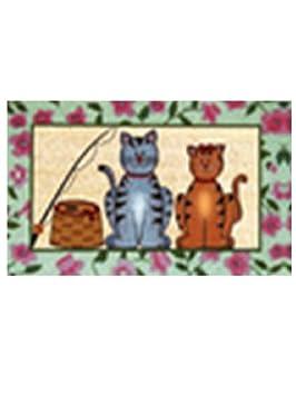 MONTEMAGGI Felpudo de Coco con Gatos 40 X 70 X 2 cm: MainApps: Amazon.es: Hogar