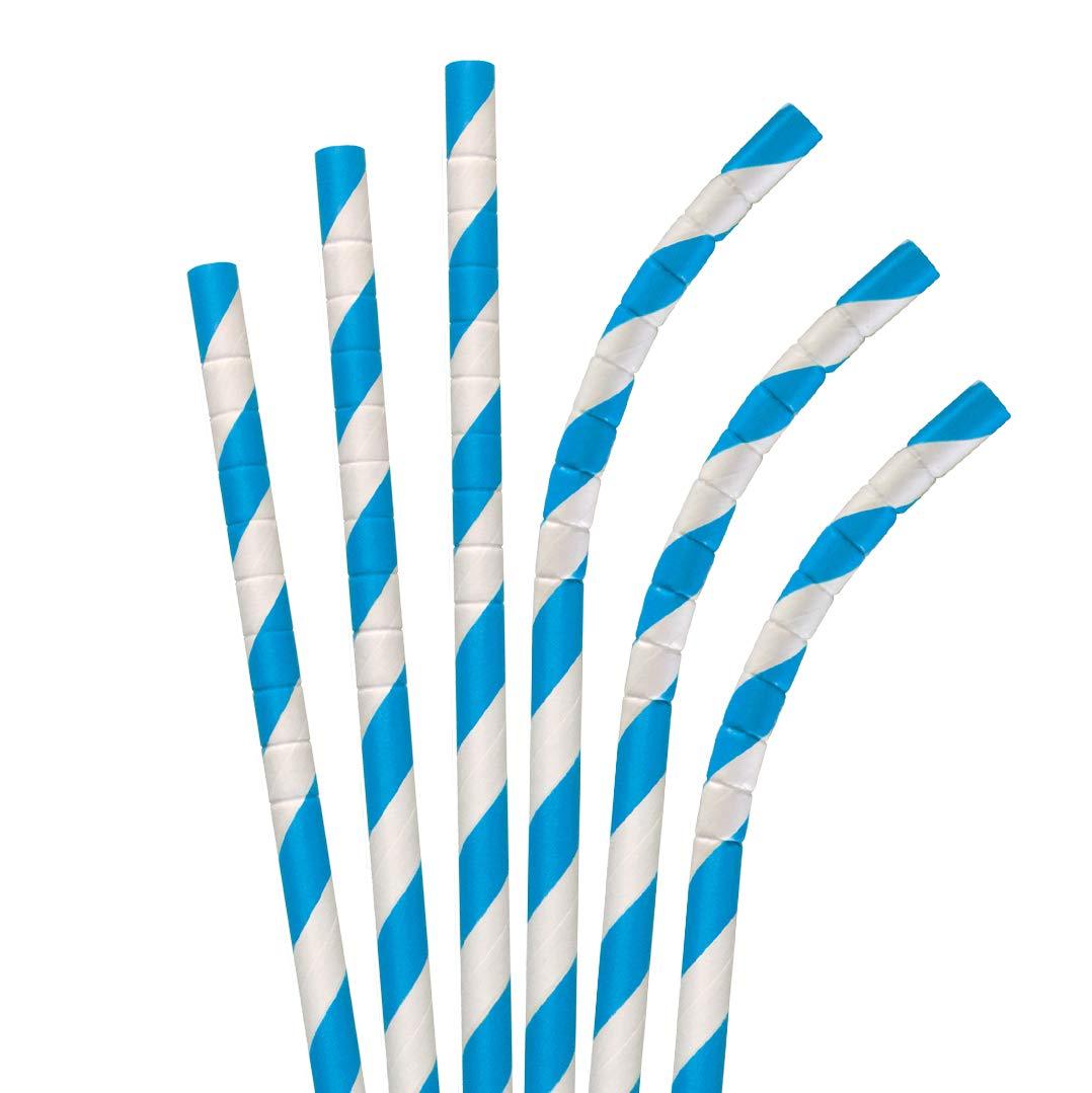 Pajitas de papel Eco-Flex de 7.75