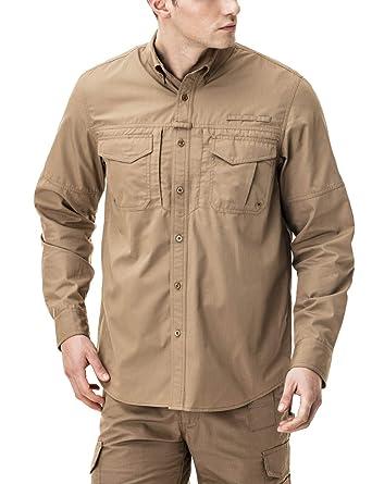 c725568cea59 Amazon.com  CQR Men s Outdoor PFG UPF 50+ Long Short-Sleeve ...