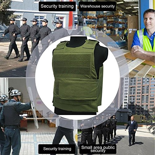 CLKJYF Security Guard Vest Stab-resistant Genuine Tactical Vest Protecting Clothes - Green