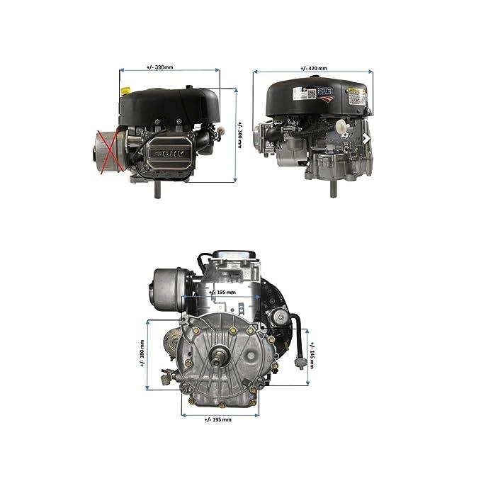 Motor Briggs Stratton 344 CC salida 25,4 x 80 mm con motor de arranque para tractor cortacésped