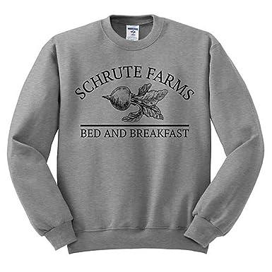 42c74fe1 DFGTHRTHRT Schrute Farms Sweatshirt Dunder Mifflin Shirt The Office Shirt  Dwight Schrute Michael Scott Jim Halpert The Office Sweatshirt Jumpers: ...