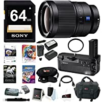 Sony 35mm f/1.4 ZA Standard-Prime Lens, VGC2EM Vertical Grip Bundle Package