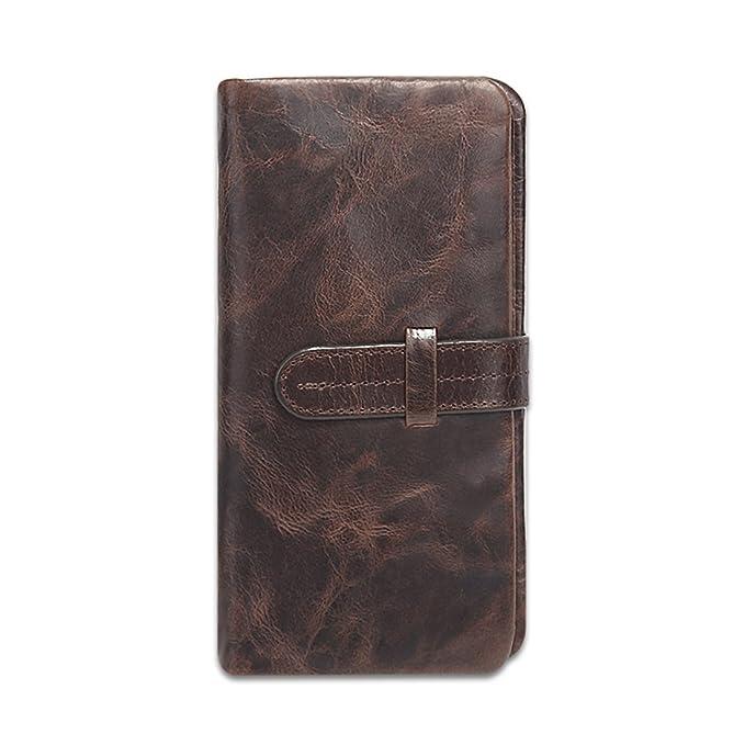 Clip de Dinero Cuero Cartera - Slim carteras hombre Billetero Tarjetero Para Hombre De Crédito - Gelory: Amazon.es: Ropa y accesorios
