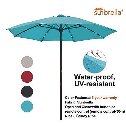 Amazon Com Sorara Outdoor 9 Ft Patio Umbrella Sunbrella Canopy