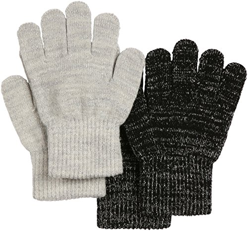 Melton 2-pack Kids Gloves, Black, 2-5Y
