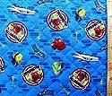 <Qキャラクター・キルティング生地>チャギントン(ブルー)#7の商品画像
