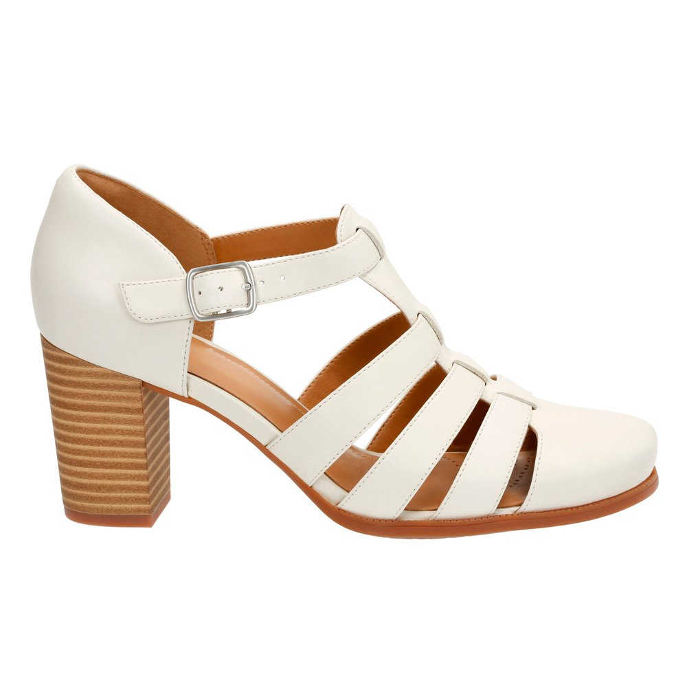 c19961ed02 Amazon.com | CLARKS Women's, Ciera Gull High Heel Pump Off White 10 M |  Shoes
