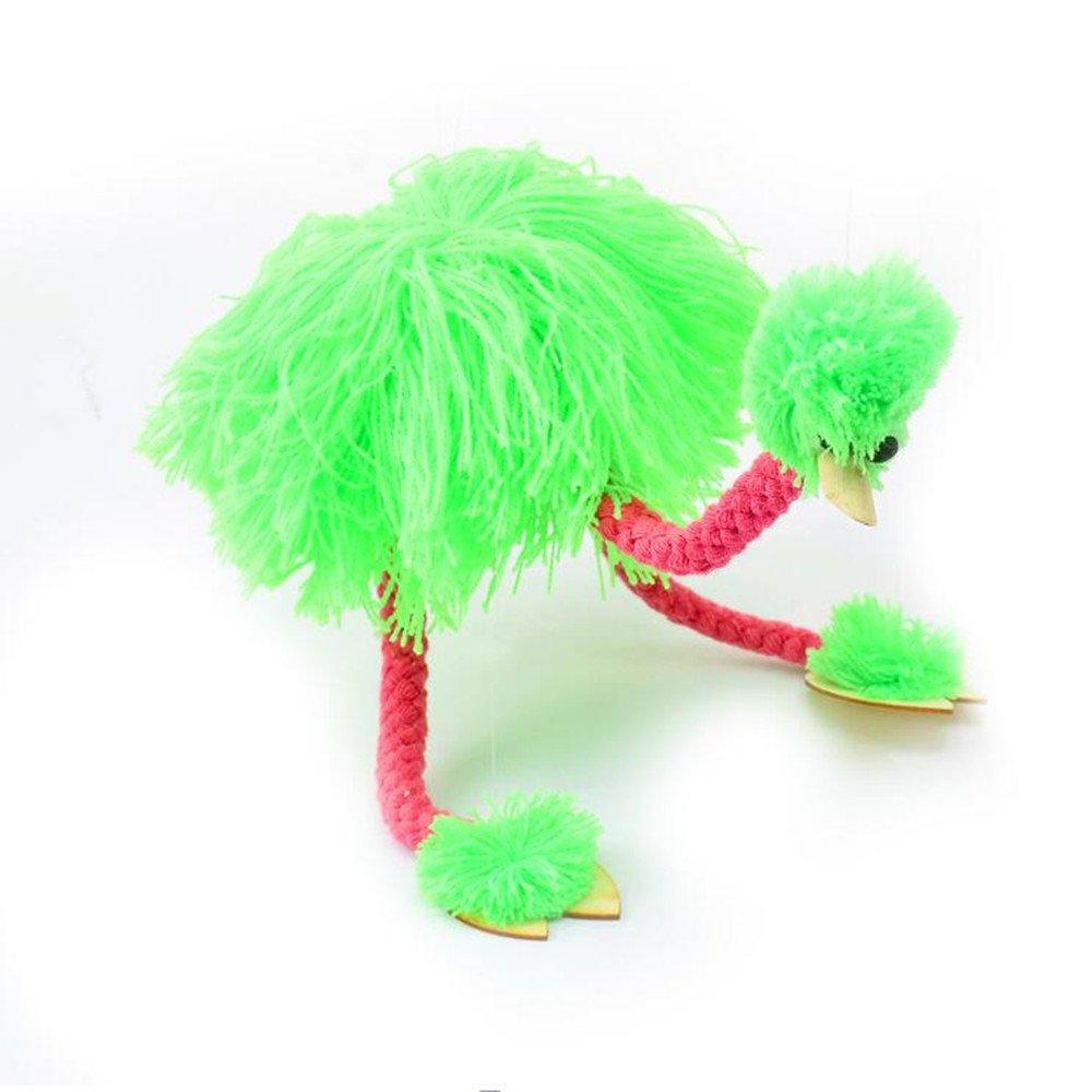 HOCHE Toy-Marionette Ostrich (Fluorescent-Green)