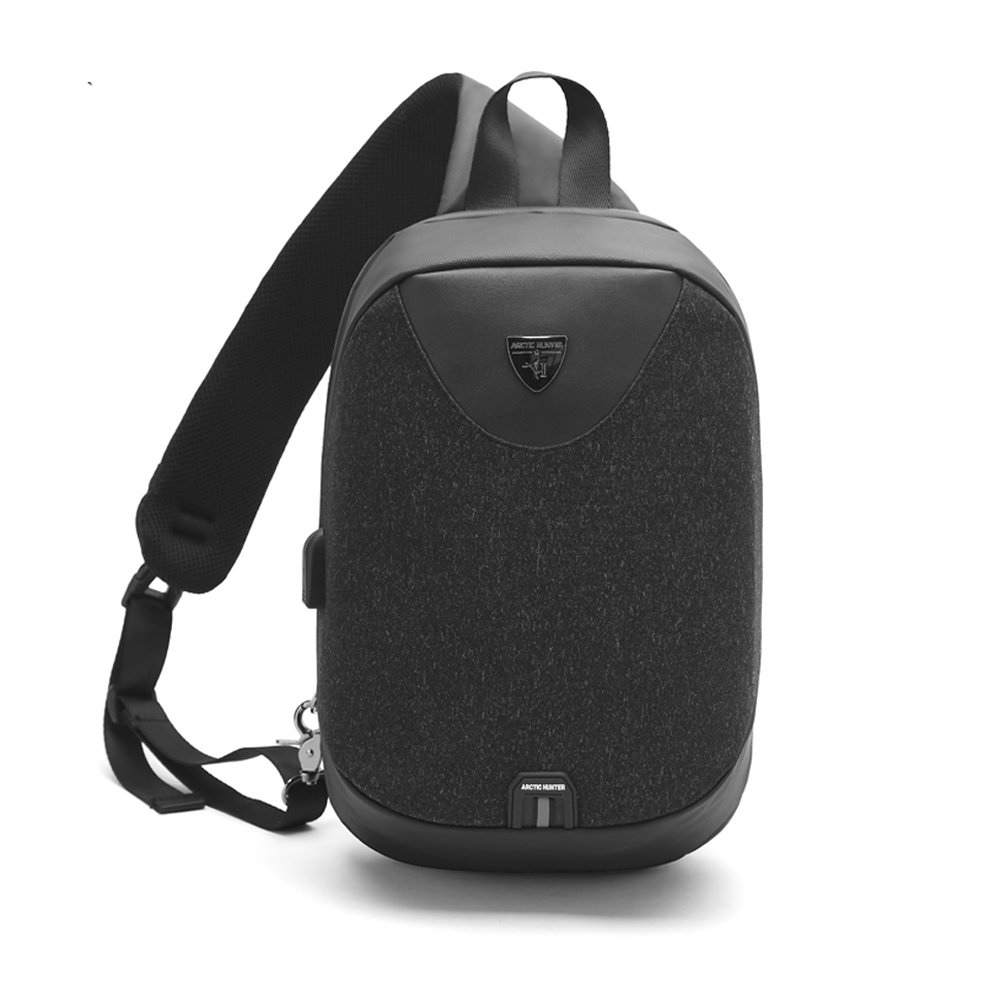 Destone Anti-Theft Classic Mini Shoulder Bag, Lightweight Smallish Durable Crossbody bag with USB Charging Port, For Vacation/Holiday Travel or Everyday Work for Men Women Lady Girls Teens - Black