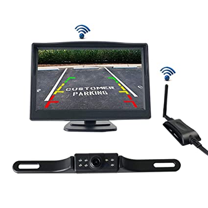 "Emmako Backup Camera and 4.3/"" Monitor System For Car//SUV//RV//Pickup//Truck//Trailer"