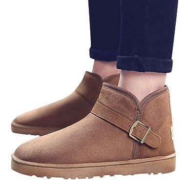❤ Zapatos de Hombre Transpirable, Invierno Parte Inferior Plana Cómodo Cálido Transpirable Botas para la Nieve Zapatos Casuales Botas Salvajes: ...
