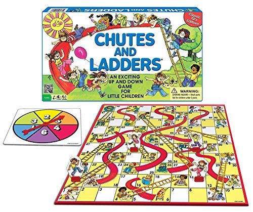 picture of chutes and ladders game board - 5