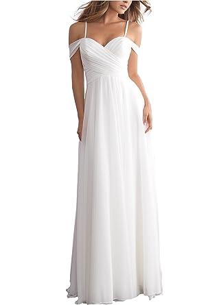 Beauty Bridal Women\'s Off Shoulder Chiffon Beach Wedding Dress 2018 ...