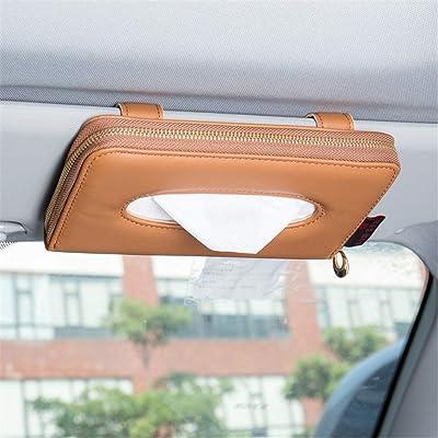 Fredyusu Car Tissue Holder, Car Visor Tissue Holder, Premium Solid Color Auto Tissue Box, Tissue case Holder for car (Yellow): Automotive