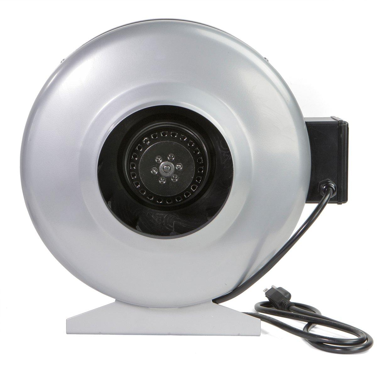 XtremepowerUS Inline Duct 6'' 440CFM Fan, Sliver