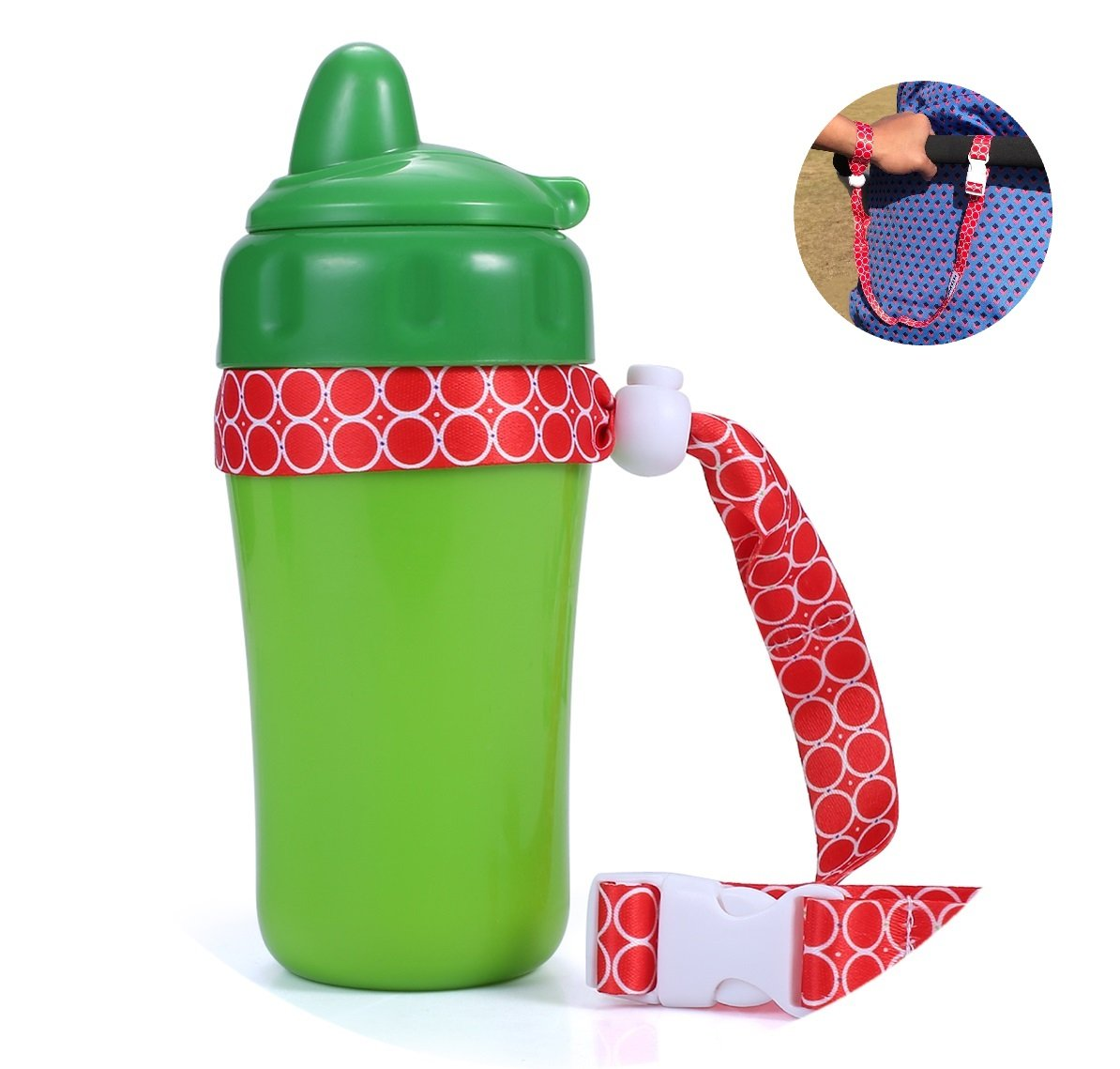 Parawin Multifunctional Strap - Anti-Lost Stroller Strap For Sippy Cup Holder and Toys - Pram Wrist Strap 4 Pack