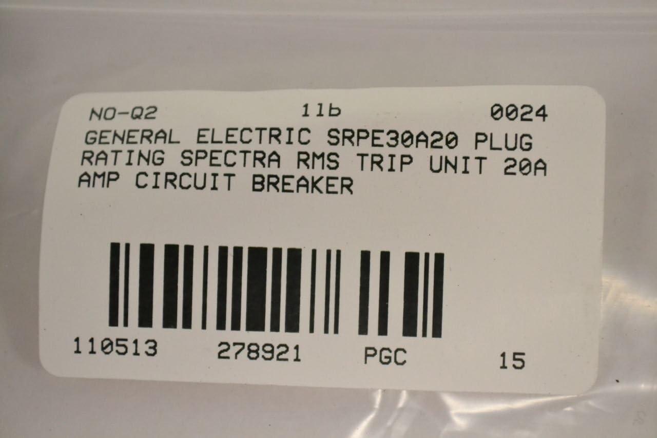 Warranty GE SRPE30A20 Rating Plug 20 Amp