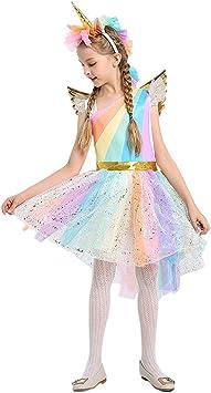 ShiyiUP Vestido de Unicornio Halloween Disfraces Princesa con ...
