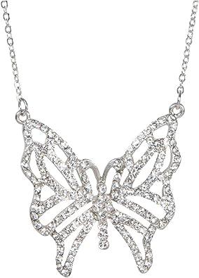 Stunning Art Deco Inspired Silver /& Crystal Statement Pendant
