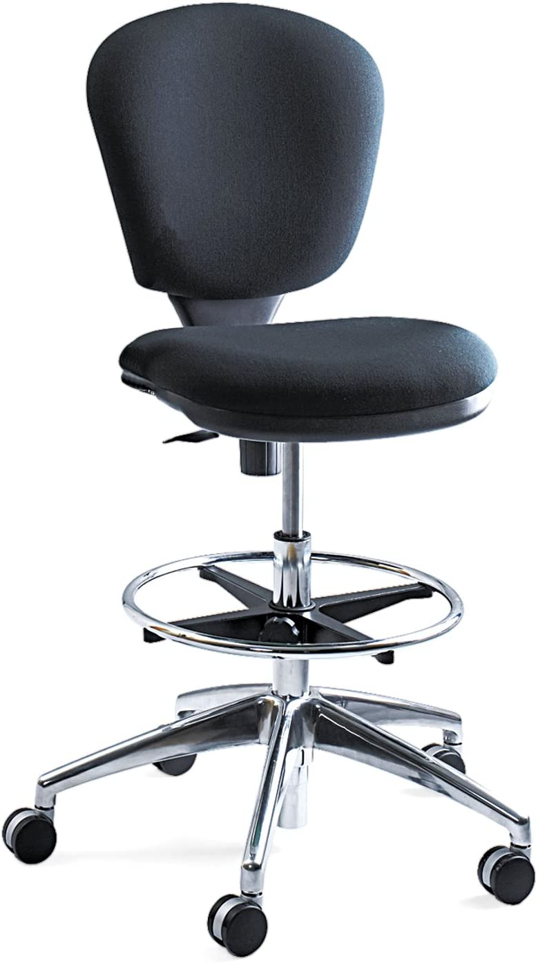 Safco Products Metro Extended Height Chair 3442BL, Ergonomic, Pneumatic Height Adjustable, Heavily Padded