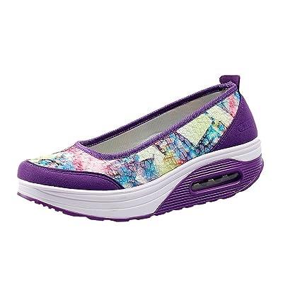 Zapatos para Mujer, ???? RETUROM 2018 Zapatillas de Superficie de Mujer Air Net Shake Shoes Slip Sport Leisure Zapatillas de Deporte